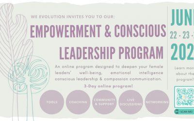 Become a Conscious Leadership Ambassador with WE Evolution!