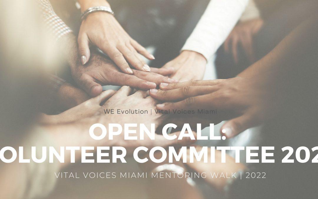 Open call: Volunteer Committee   VVM Mentoring Walk 2022